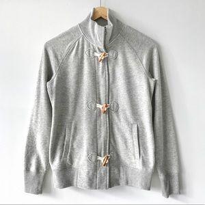 Old Navy Plush Fleece Zip & Toggle Cardigan Grey